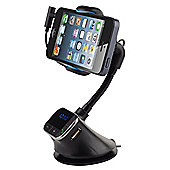 time2 In Car Mobile Phone Smart Stand & Hands Free Kit with FM Transmitter