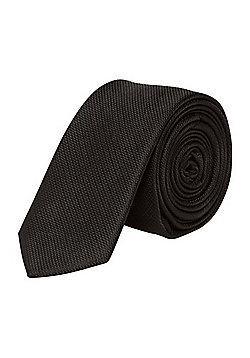 F&F Textured Skinny Tie - Black
