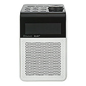 Panasonic-RFD20BTEBW Bluetooth DAB Radio in White with LCD Display and 5 Preset Stations