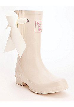 Evercreatures Ladies Shortie Bridal Wedding Wellies Cream 5