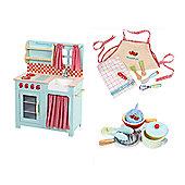 Le Toy Van Honey Kitchen, Pots, Pans, Apron & Utensils