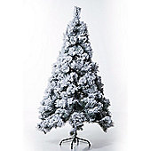 Homcom Artificial Christmas Tree 180cm High Density Pine Xmas Decoration Tree w/ Metal Stand(White)