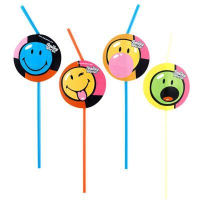 Smiley World Drinking Straws