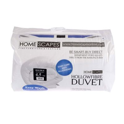 Homescapes 4.5 Tog Hollowfibre Double Summer Duvet
