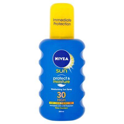 NIVEA SUN Protect & Moisture Moisturising Sun Spray 30 High 200ml