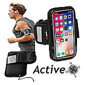 Navitech Black Sports Running Armband For the iPhone X