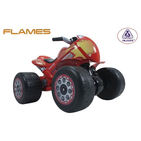 Injusa Flames Quad Bike Battery Operated Ride-On
