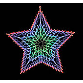 Chasing Light Up Star Christmas Light (140 Multi Leds)