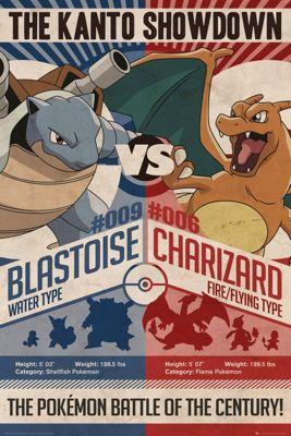 Pokemon Red v Blue Poster