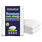Slumberdown Bouncy Anti Allergy Mattress Protector, Single