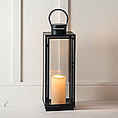 Tall Black Metal Battery Outdoor LED Candle Lantern