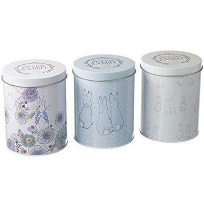Stow Green Beatrix Potter Peter Rabbit Contemporary Set of Three Storage Tins