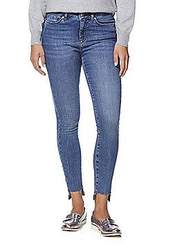 Vero Moda Style 7 Stepped Hem Slim Fit Jeans - Blue