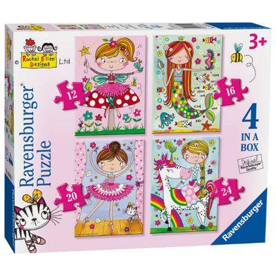 Rachel Ellen - Fairytale Favourites - 4 in 1 Puzzle