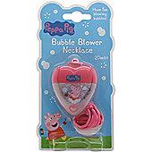Peppa Pig Mini Bath Bubble Blower Necklace 15ml