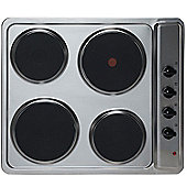 SIA PHP601SS 60cm Solid Plate 4 Zone Electric Hob In Stainless Steel