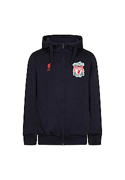 Liverpool FC Mens Zip Hoody - Navy blue