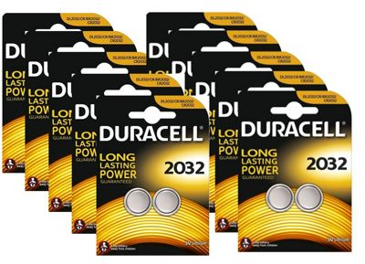 20 x Duracell CR2032 3V Lithium Coin Cell Battery 2032, DL2032, BR2032, SB-T15