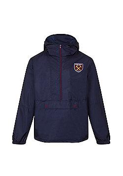 West Ham United FC Boys Shower Jacket - Navy & Multi
