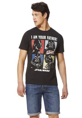 Star Wars I Am Your Father Slogan T-Shirt Black 3XL