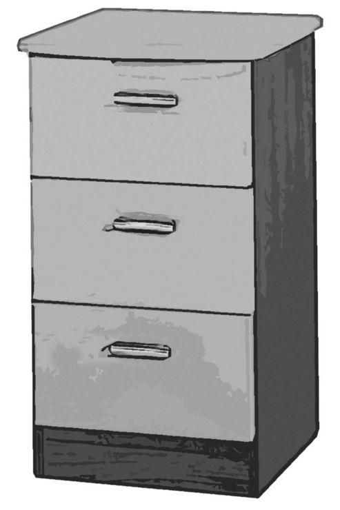 Welcome Furniture Mayfair 3 Drawer Chest with Locker - Black - Ebony - Black