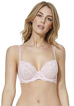 F&F Signature Rae Lace Underwired Bra - Blush Pink