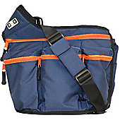 Diaper Dude Original Messenger I Changing Bag Navy/Orange