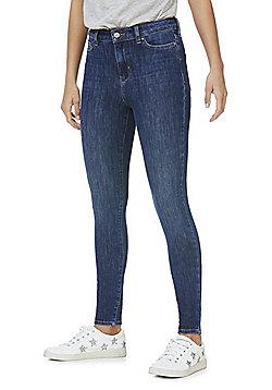 F&F 4-Way Stretch Super High Rise Skinny Jeans - Mid wash
