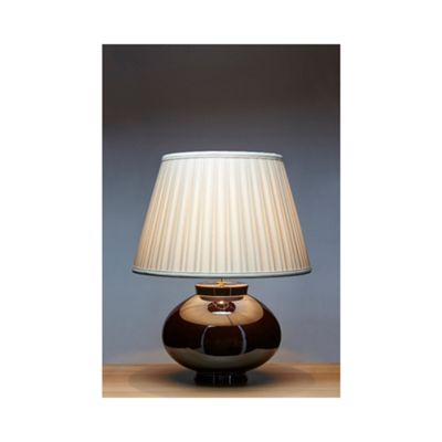 Brown Table Lamp - 1 x 60W E27
