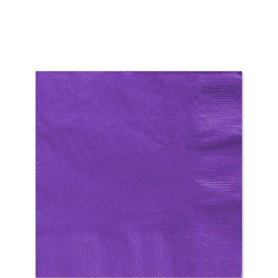 Purple Beverage Napkins - 2ply Paper - 100 Pack