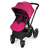 ickle bubba Stomp V2 2 in1 Pram - Pink (Black Chassis)