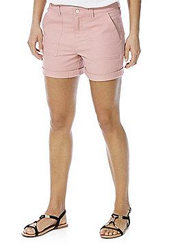 F&F Cuffed Chino Shorts - Blush