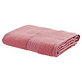TESCO ZERO TWIST BATH TOWEL CORAL