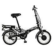 "Ion 16"" Wheel Unisex Alloy Folding Electric Bike, Black"