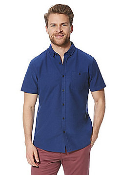 F&F Short Sleeve Oxford Shirt - Blue