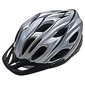 Tesco, Adults' Bike Helmet, Silver, 58-62cm