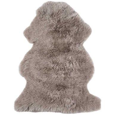 Bahne Rug Beige 100% Natural New Zealand Lambskin L: 95-105 cm W: 80-90 cm