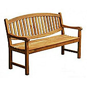 Oval Backed Teak Garden Bench - 120cm