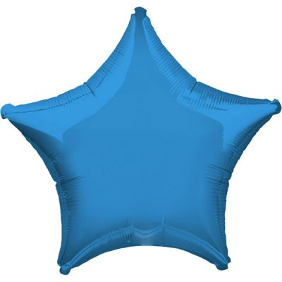 Periwinkle Blue Star Balloon - 19 inch Foil