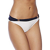 F&F Luxury Nautical Fold-Over Bikini Briefs - Navy & White