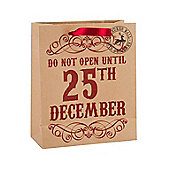 Do Not Open Christmas Gift Bag - Medium