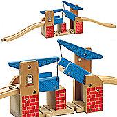 Toys for Play Lifting Bridge 3pcs for Wooden Railway Train Set 50918