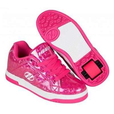 Heelys Spit Pink/Hologram Kids Heely Shoe UK 2