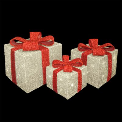 The Christmas Workshop Battery Operated LED Xmas Tinsel Gift Box Lights Set of 3 & Buy The Christmas Workshop Battery Operated LED Xmas Tinsel Gift ... Aboutintivar.Com