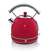 Swan-SK34020RN Retro Dome Kettle with 1.7L Capacity in Red