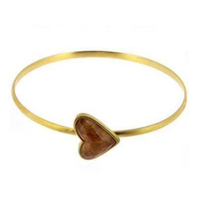 Lucas Jack Sandstone Heart Stackable Bangle