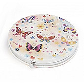 Ditsy Butterfly Compact Mirror