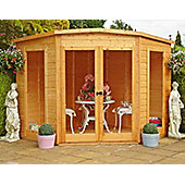 Corner Summerhouse 8x8 with safety glazing & double doors by Finewood