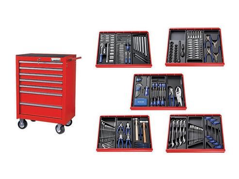 Britool Expert E220328B Roller Cabinet Toolkit 285 Piece Red