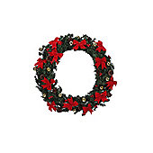 Homegear 75Cm Decorated Christmas Wreath Holiday Door Decor Mesh With Berries